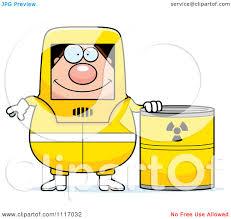 Vector Cartoon Hazmat Hazardous Materials Removal Worker With A Drum