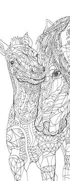 Small Picture Coloring pages Horse Printable Adult Coloring book by ValrArt