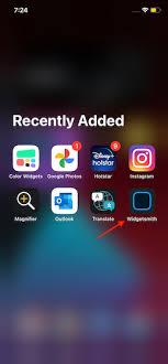 create custom home screen widgets