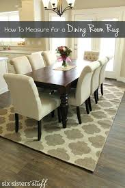 rug size for dining table glamorous area under room o tables