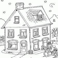 Kleurplaat Sinterklaas En Zwarte Piet Lopen Langs Huis