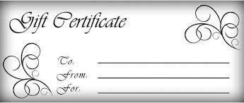 gift certificates templates free printable gift certificate template pictures 3 avon gift