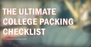 Packing Lists What to Bring to College in 2018: The Ultimate College Packing List