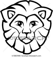 baby lion clipart black and white. Simple Clipart 440x470 Clipart Of Lion Baby Cartoon Xmas Background K5835383 And Black White
