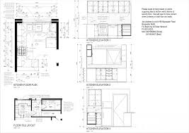 tag for l shaped kitchen plan n elevation in autocad tag