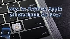 How to Replace Apple M1 MacBook Air (2020) Keys - YouTube