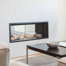 Image Direct Vent Valor Linear L1 2sided Gas Fireplace Wood Heat Valor Linear L1 2sided
