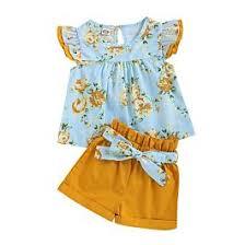 <b>Wholesale 2</b>-<b>Piece</b> Summer Baby Little Girl <b>Flower</b> Top &
