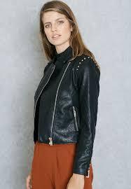 mango black pu biker jacket 73095570 for women in saudi ma887at36rup