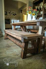 rustic tables with benches
