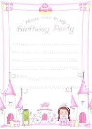Girl Birthday Invitation Template Kids Invitation Template