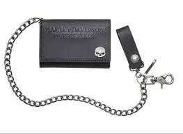 harley davidson reg men s skull medallion medium biker wallet tri fold 19