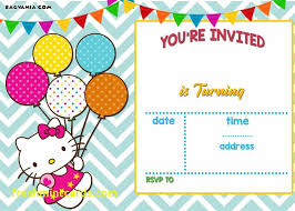 Printable Hello Kitty Invitations Personalized Personalized Birthday Invitations 650 464 Hello Kitty