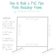 diy photo backdrop frame with pvc pipe by partiesforpennies com