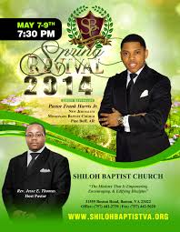 sbc annual spring revival shiloh baptist church 8 5 x11 spring revival flyer