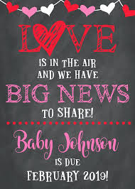 valentines day pregnancy announcement cards valentines baby announcement valentines baby announcement template