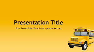 Ppt Background School Free School Bus Powerpoint Template Prezentr