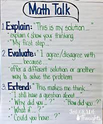 3rd Grade Anchor Charts Math Talk Anchor Chart 3rd Grade Thoughts