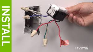 feit dimmer single pole switch wiring diagram not lossing wiring leviton presents how to install a decora digital dse06 low voltage rh com lutron dimmer switch wiring lutron dimmer switch wiring diagram