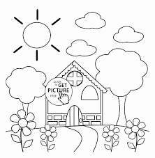 Spring Coloring Pages For Toddlers Phenomenal Colouring Kindergarten