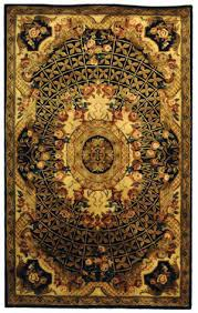 safavieh classic cl304a black gold area rug