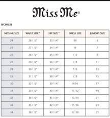 Miss Me Size Conversion Chart Valid Miss Me Sizes Chart Conversion Shorts Size Conversion
