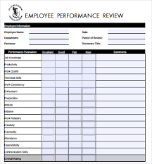 sample employee evaluations sample job performance evaluation form 7 documents in pdf word
