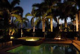hd pool with profesional outdoor landscape lighting design pictures