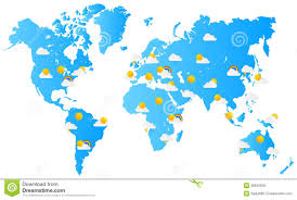 world map weather forecast stock vector image of news