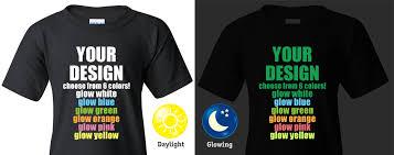 In The Shirt Custom Glow In The Dark T Shirt Printing Good Ink