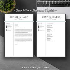 Best Selling Resume Cv Template The Connie Instant Download