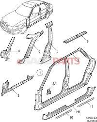 Car exterior body parts diagram esaabparts diagram chart gallery