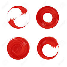 Set Of Red Round Element For Design Japan Red Circle Logo