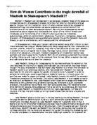 ib myp essay on macbeth and unchecked ambition international  women in macbeth
