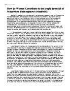 ib myp essay on macbeth and unchecked ambition international  women in macbeth