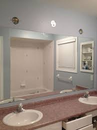 Bathroom Mirror redo to double framed mirrors and cabinet