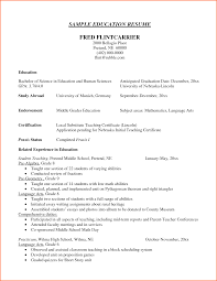 Resume Example Education Section Sidemcicek Com