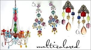 multi colored crystal chandelier colored chandelier image 8 gypsy chandelier 5 multi colored chandelier earrings 6