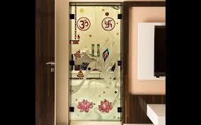 mandir glass door design for home