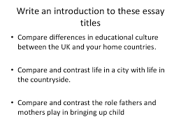 essay structure compare and contrast 4