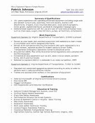 Heavy Equipment Operator Resume Elegant Best Petroleum Refining