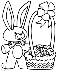 Easter Coloring Pages For Preschoolers Happy Easter Thanksgiving