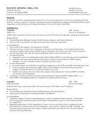 Resume Samples For Experienced Accounts Professionals Valid