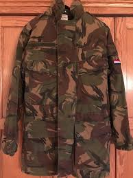 dutch army military surplus woodland camo kl field jacket winter coat w liner 1 of 12 see more