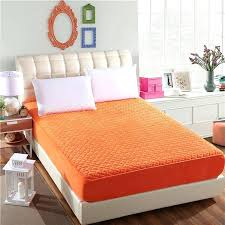 orange bed covers plain color fashion solid bedspread with elastic band sheets mattress cover size orange bed covers