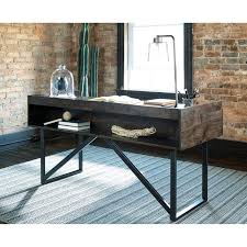 rustic desk home office. Modern Rustic Desk Industrial Home Office With Steel Base By E