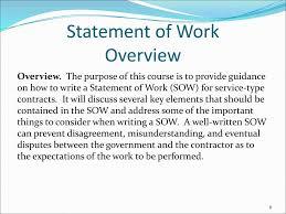 It Statement Of Work Statement Of Work Sow Ppt Download