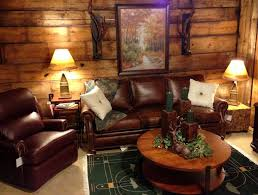 choosing rustic living room. Log Living Room With Rustic Leather Furniture : Choosing The Right F