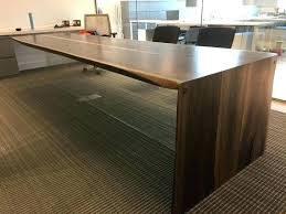 waterfall edge table waterfall dining table live edge black walnut conference table with glass base live waterfall edge table