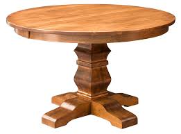 amish round pedestal dining table solid wood rustic small round wood kitchen table